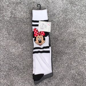Knee high mickey mouse socks size 4-10 3 pairs
